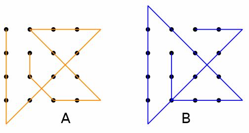 Il problema dei 9 punti e delle 4 linee - Unire i numeri dei punti ...