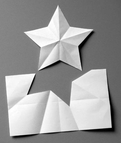 Disegnare Una Stella Di Natale.Piega E Taglia La Stella A 5 Punte