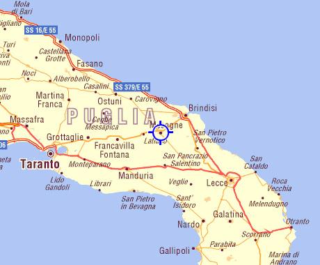 Mappa Puglia Ostuni.Ospitalita In Famiglia Casa Di Campagna Bed And Breakfast Puglia Brindisi Ostuni Valle D Itria Salento Mare Ionio Mare Adriatico Torre Guaceto